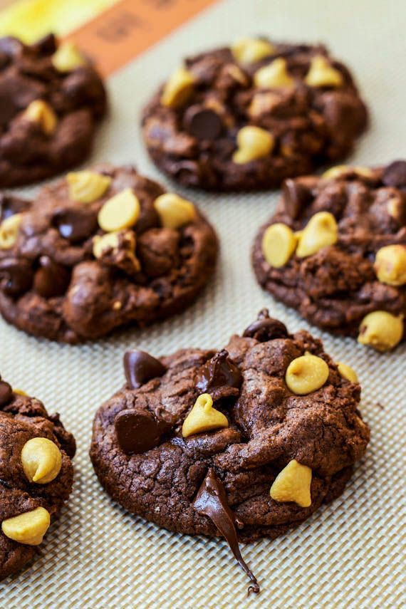 Death by Chocolate Peanut Butter Chip Cookies  {Sally's Baking Addiction}