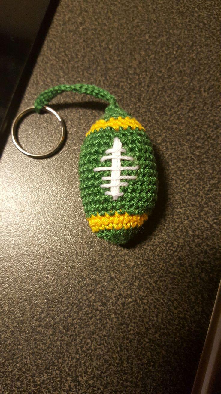 Nyckelring med amerikansk fotboll i givetvis Packers färger.