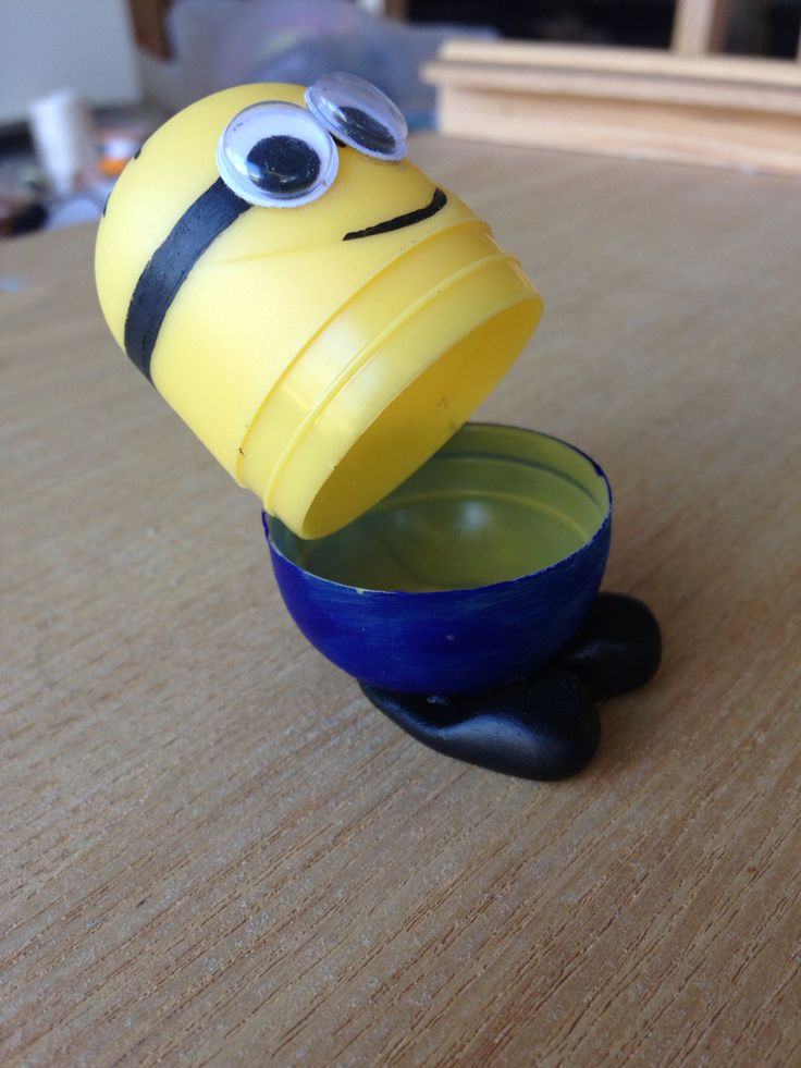 Minion made from kinder surprise.