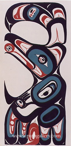 'Raven Dancer'- Northwest Coast Native Art  by Reece, Henry: