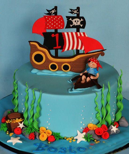 Картинка с пиратами на торт