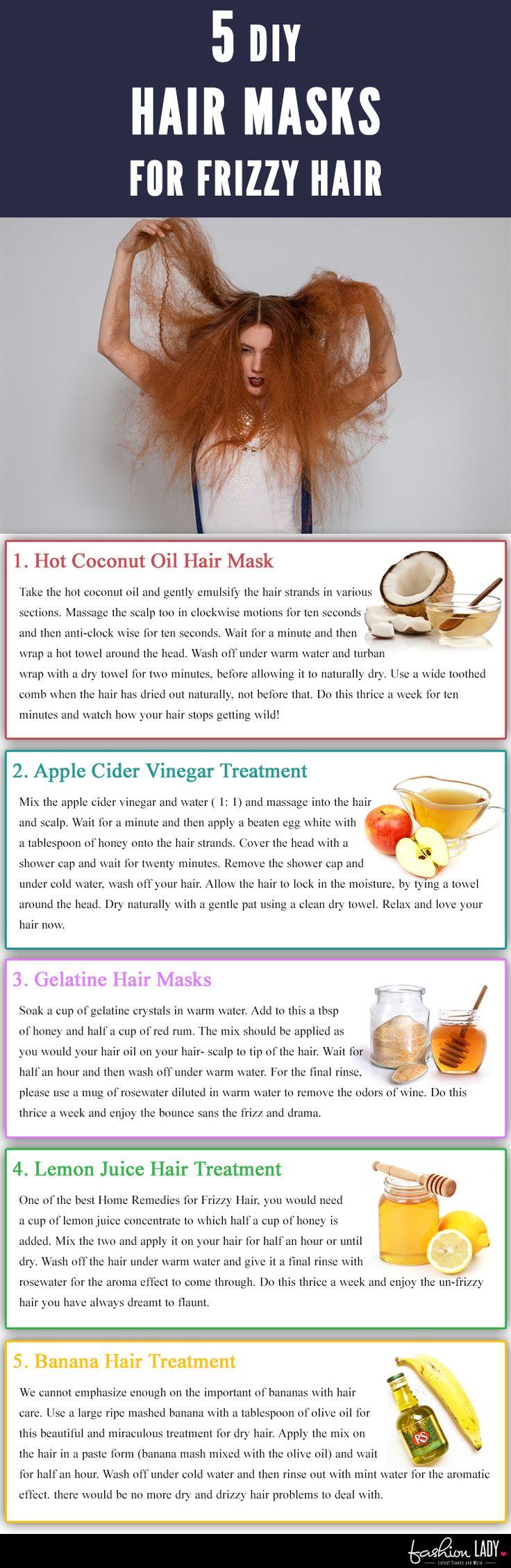 5 DIY Hair Masks For Frizzy Hair