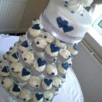 awesome 99 Amazing Navy Blue Wedding Cakes for Different Touch  https://viscawedding.com/2017/07/08/99-amazing-navy-blue-wedding-cakes-for-different-touch/