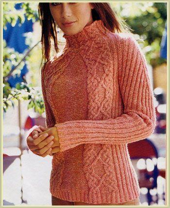 Arani Sweater free knitting graph pattern