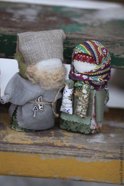 """Народные куклы ручной работы. Ярмарка Мастеров - ручная работа Куколки """"Богач и женушка-крупеничка"""". Handmade."""