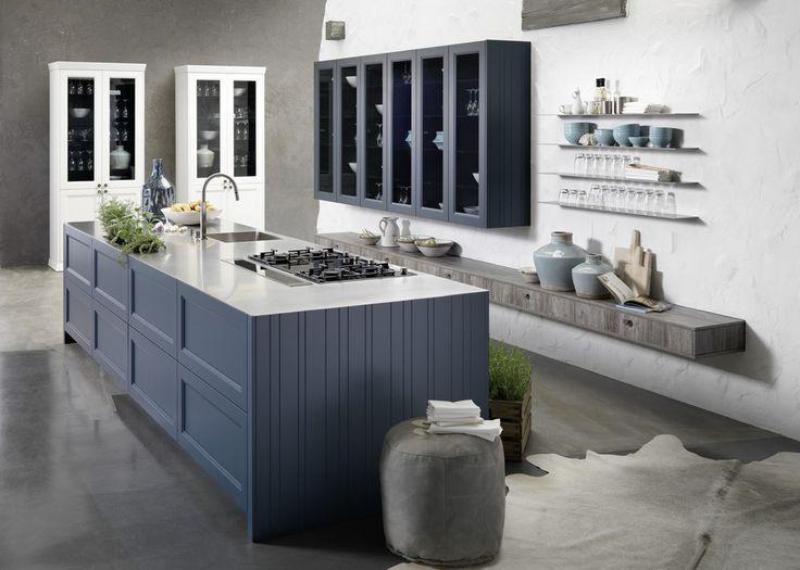 Meer dan 1000 idee n over modern landelijke keukens op pinterest countrykeukens keukenkasten - Eigentijdse houten keuken ...