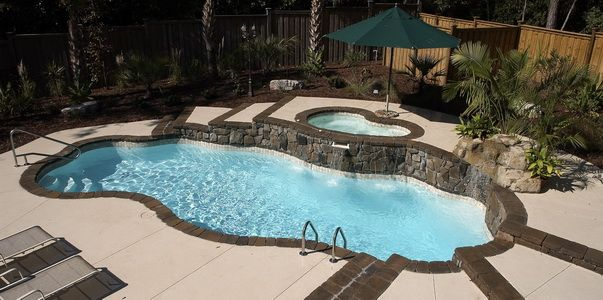 17 best images about my pool on pinterest stamped for Great pool designs