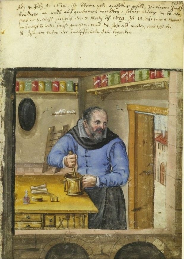 Images of various trades, 1500s