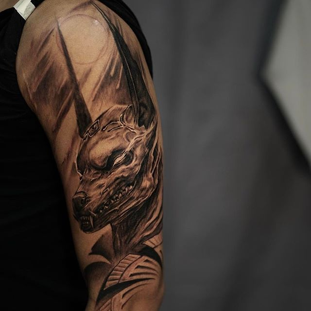 First session on Egyptian sleeve , it's going to be a fun project can't wait to finish it , you can email me at tattoojamesstrickland@gmail.com to book appointments #jamesstrickland #seventattoolv #lasvegas #sullen #inkeeze #fusion_ink #tattoo #art #blackandgray #hushanesthetic @sullenclothing @fusion_ink @inkeeze @seventattoolv @inkedmag @tattoolifemagazine @bnginksociety @skinart_mag @inksav