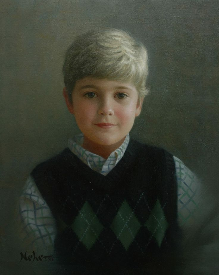 "Painting by Brian Neher, Portrait of Aaron, 20"" x 16"", Oil on Linen www.BrianNeher.com"