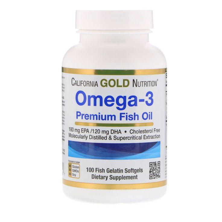 California Gold Nutrition Omega 3 Rybij Zhir Premialnogo Kachestva 100 Kapsul Iz Rybego Zhelatina Fish Oil Healthy Brain Function Gelatin