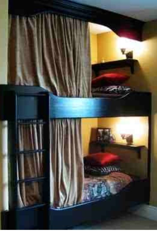 Bunk Beds Curtains For Privacy Camper Pinterest