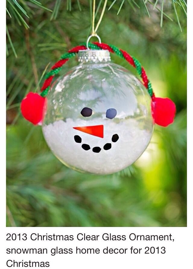 Clear snowman ornament crafts for kids pinterest for Clear ornament snowman craft