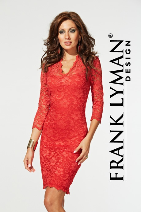 Frank Lyman lace dress (stocked in pearl shade). Style number 26167. SS 2013 Collection. www.snootyfrox.co.uk