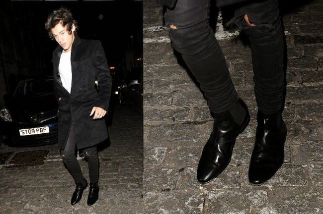 harry styles black white chelsea boots things i want