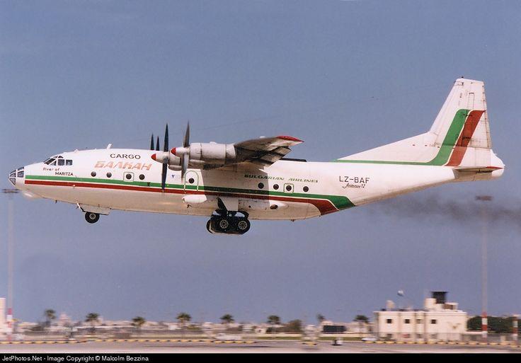 Balkan Cargo Antonov An-12B LZ-BAF 402408 Malta Int'l - LMML