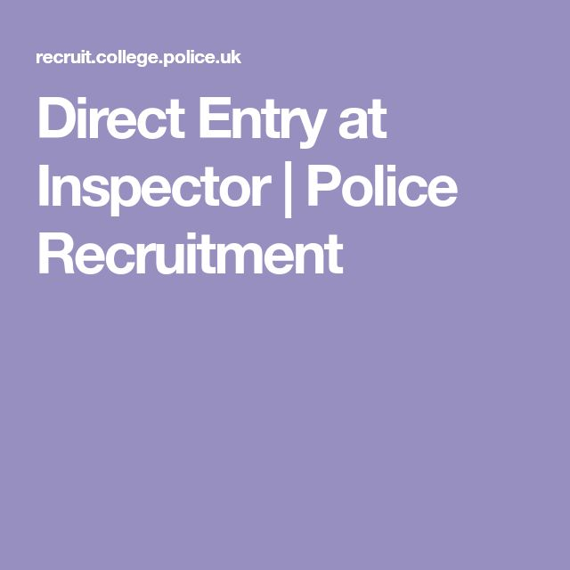 Direct Entry at Inspector | Police Recruitment