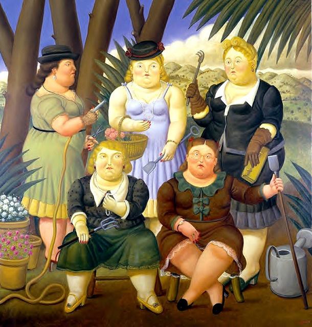 Botero, Fernando (1932- ) -1997 The Garden Club by RasMarley, via Flickr