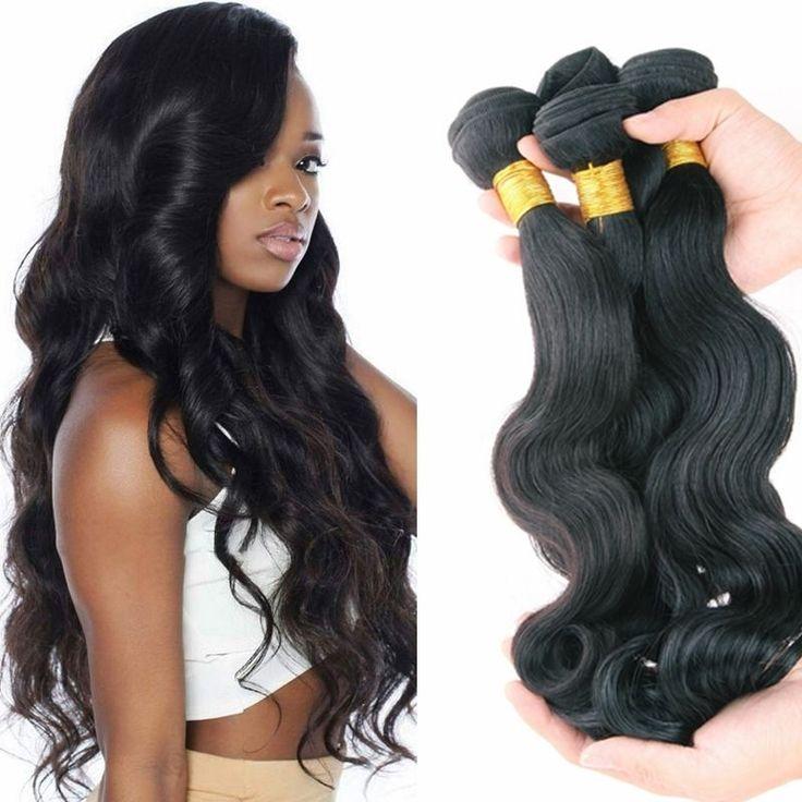 Brazilian Body Wave Human Hair Bundles Virgin Hair Extensions Weave 100g/bundle
