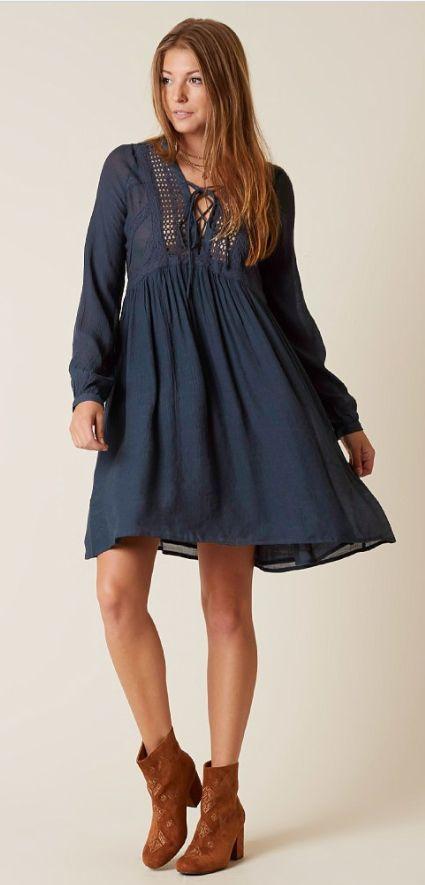 Boho Dresses for Fall : Moon + Sky Peasant Dress   Buckle