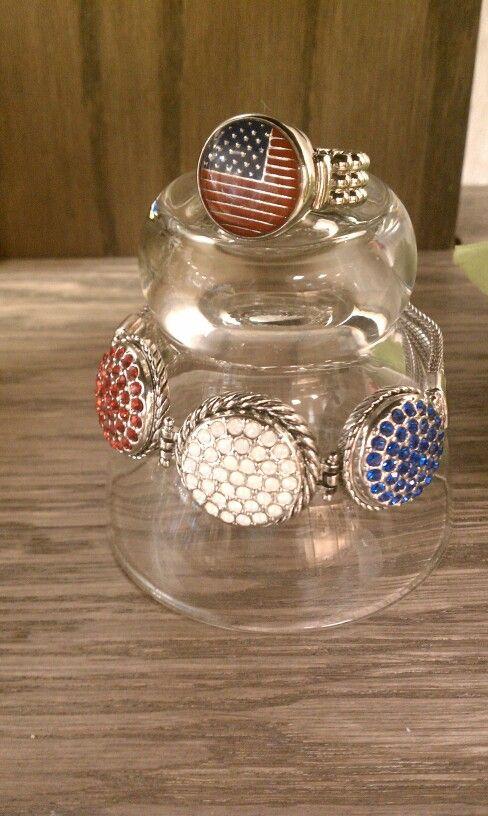 Patriotic Interchangeable Jewelry! Www.bestjewelryever.com