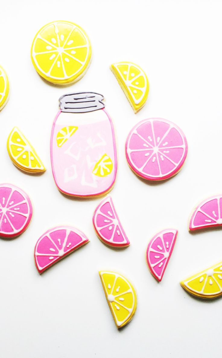 PINK LEMONADE DECORATED SUGAR COOKIE RECIPE