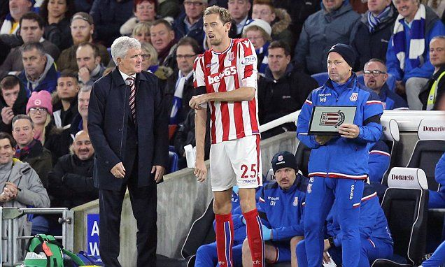 Stoke boss Mark Hughes to offer Peter Crouch new deal