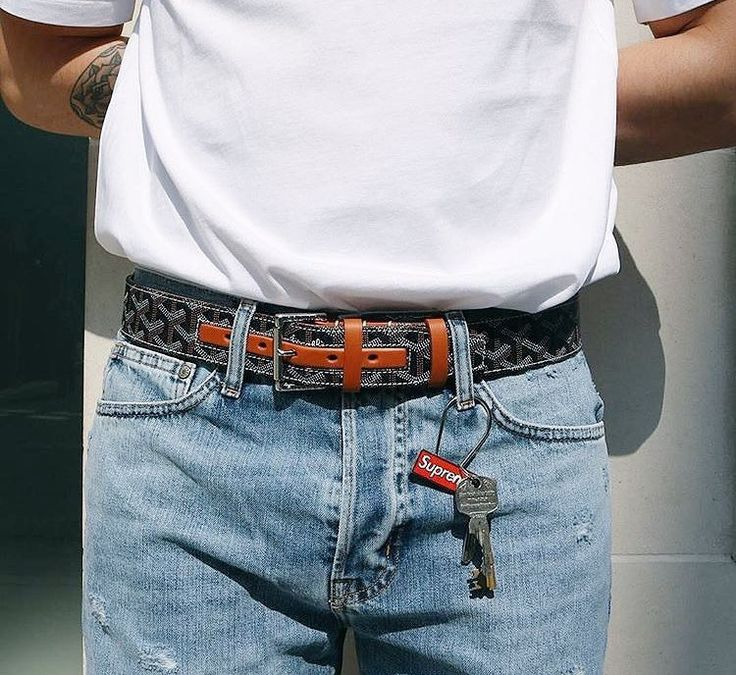 Goyard Belt x Supreme Keychain