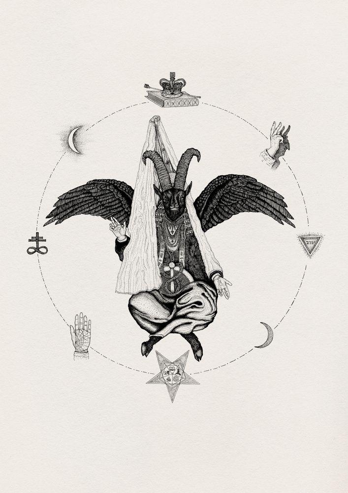 Image of 'Baphomet' Limited Edition Giclée Fine Art Print