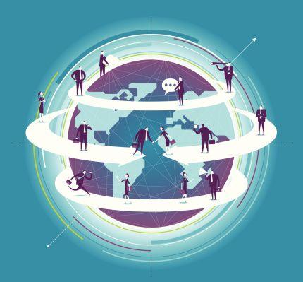 Global Business Vector Art 187679675