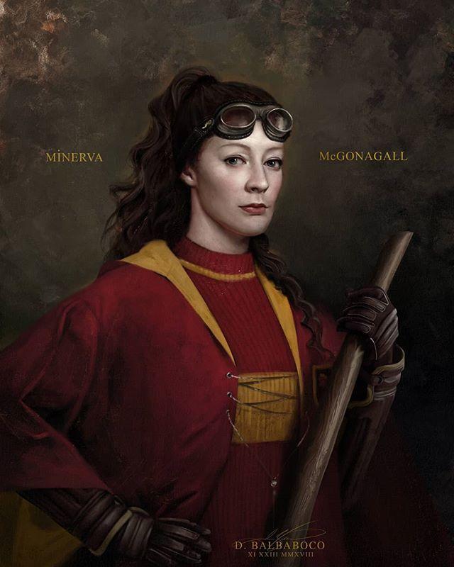 Minerva McGonagall Gryffindor Quidditch | Hogwarts Houses in