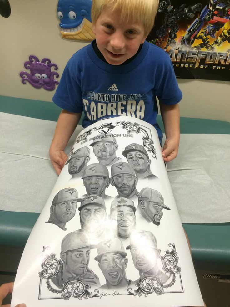Got this awesome poster from the nurses at Londons Children's Hospital after they heard about his Jays addiction
