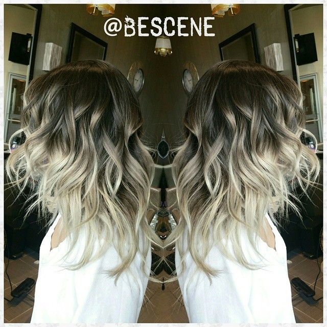 @bescene - SmokeyBrown to Ash Blonde ombre for my home girl @ninameliza! Base: 5-1,0-22,E-1 Ends:10-1,0-11,... - yrgram