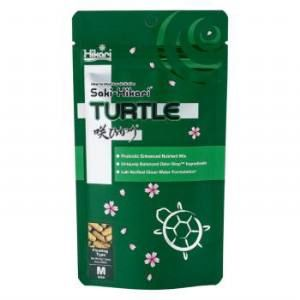 Saki - Hikari Turtle is an aquatic turtle diet that includes probiotics and special odor-stop ingredients which help reduce common ammonia smell by up to 88% over competitive products. The extreme feed efficiency helps keep water clearer and cleaner when compared to other aquatic turtle diets.