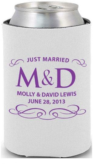 200 Custom Wedding Koozies- Wedding Favors- Engagement Party Favors. $250.00, via Etsy.