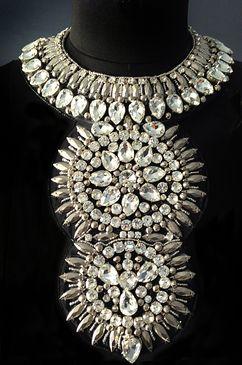 MARIAM SEDDIQ embellished hand beaded neckpiece 'SITARA' crystal statement necklace. www.mariamseddiq.com PRE ORDER