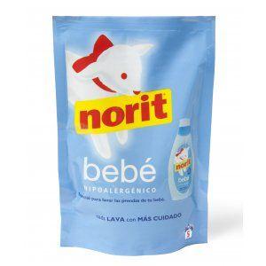 Norit Bebé. Detergente especial para lavar la ropa del bebé. La marca Norit, líder en el cuidado de la ropa, te presenta uno de sus productos más reconocidos, Norit Bebé.