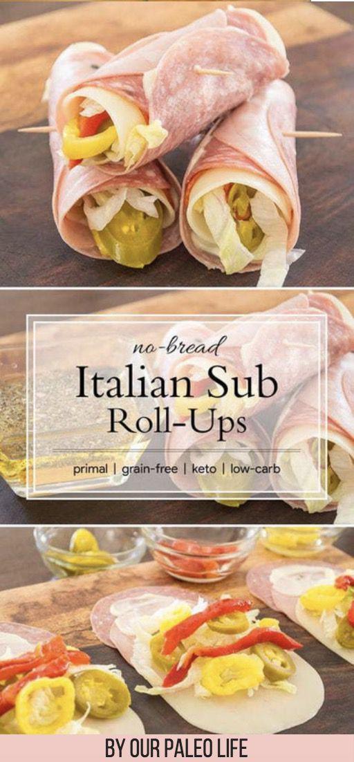 30 beste Keto-Snacks zur Gewichtsreduktion: No Bread Italian Sub Roll-Ups. Diese Delikatessen …