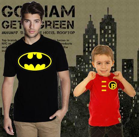 $179.00 Playeras Batman Y Robin, Todas las Tallas - Jinx