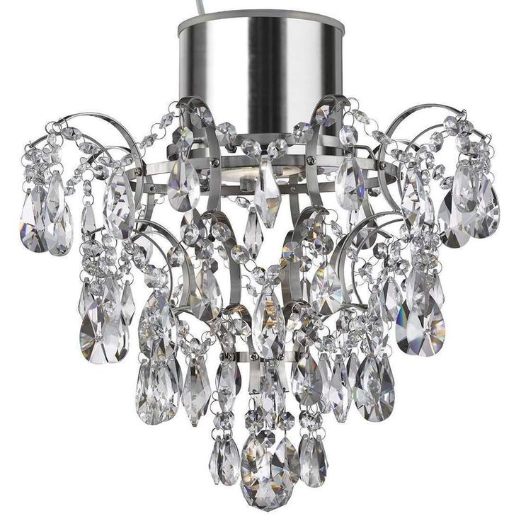 A modern decorative and polished chrome metal chandelier deals to your bathroom ceiling light