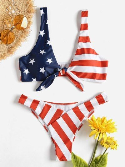 Flag Red Knot Love American Bikini Sswimsuitsbikiniswimsuit sQrthdC