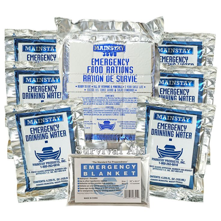 Survival Aid 3 in 1 Emergency Essentials - Food/Water/Blanket - 3 Day Value Pack #Mainstay