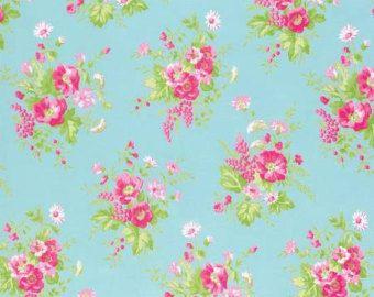 Danza carta tessuto di cotone bianco grande Rose di agardenofroses