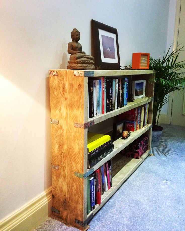 Reclaimed wood bookcase by TheBarnUK on Etsy https://www.etsy.com/uk/listing/264012976/reclaimed-wood-bookcase