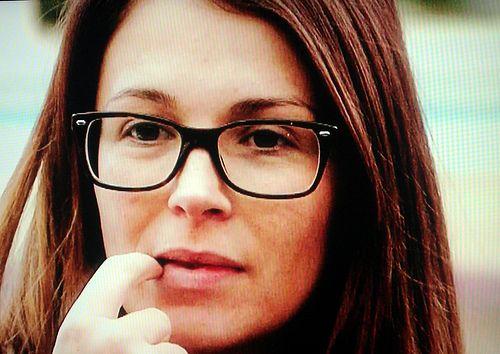 Natasha Giggs wearing glasses on Celebrity Big Brother 2012