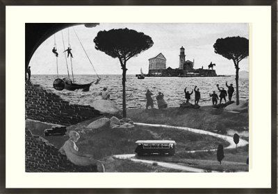 Fine Art Print / Art Poster / Collage / Island / by BoWoStudio