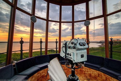 Inside the Upper Lighthouse, Portland Bill, Dorset, England