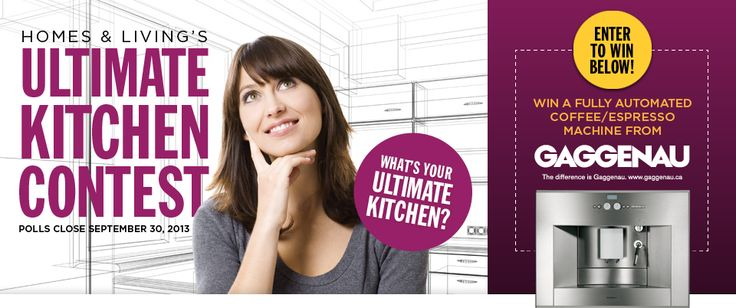 Enter our Ultimate Kitchen Contest at http://www.hlmagazine.com/homes-livings-ultimate-kitchen-contest/
