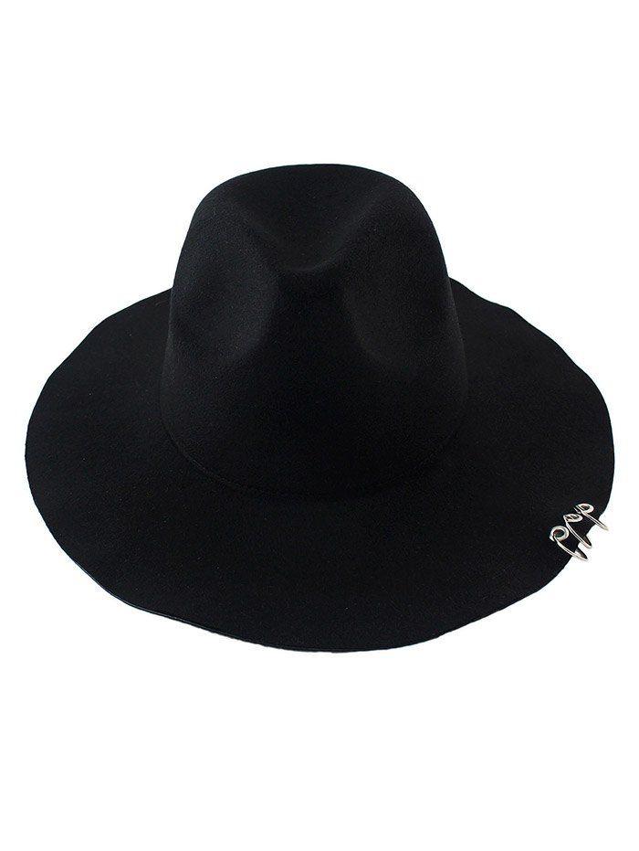 Alloy Circles Felt Floppy Hat #men, #hats, #watches, #belts, #fashion, #style