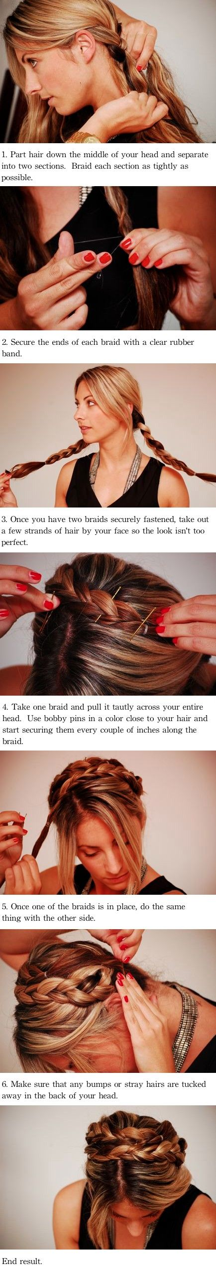 Milkmaid Braid, Up Dos, Braids Updo, Simple Braids Tutorials, Hair Style, Cupcakes And Cashmere, Updo Tutorials, Crowns Braids, Maiden Braid